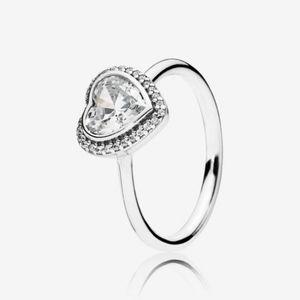New Sparkling Love Heart Ring Pandora